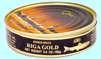 Riga Gold Smoked Sprats from Latvia